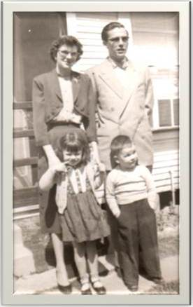 Daddy, Mama, Me (4 yrs.), Steve (3 yrs.)