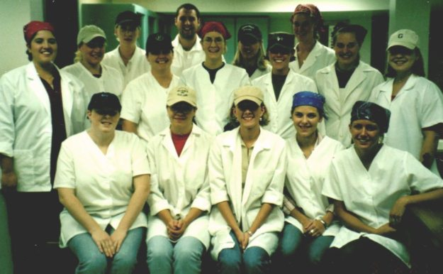 Cooking ClassJennifer is on second row next to the last on the right.