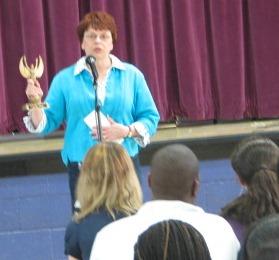 Presenting award in 2009