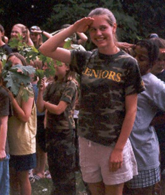 My favorite picture of her at camp