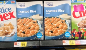 Walmart brand of plain rice Chex and Chex brand. Compare prices!