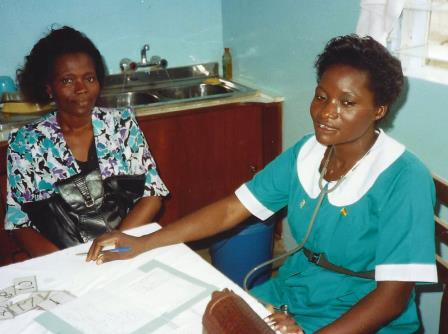 Ghanaian nurse in Kumasi clinig